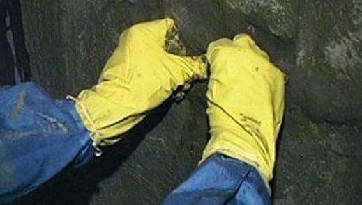 Устраненная течь в бетоне