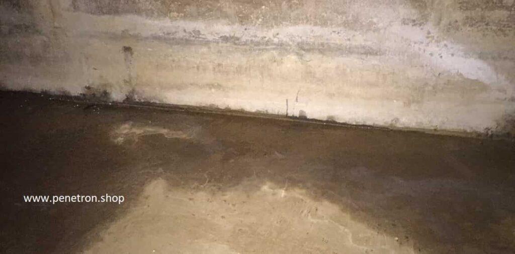 Намокание швов без устройства гидроизоляции фундамента