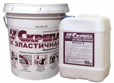 Цементно-полимерная гидроизоляция эластичная